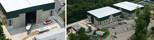 boatel, boathouse, indoor rack, indoor boat storage