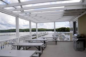 Hope Springs Marina patio, Hope Road marina