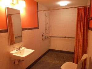 Hope Springs Marina clubhouse shower facilty